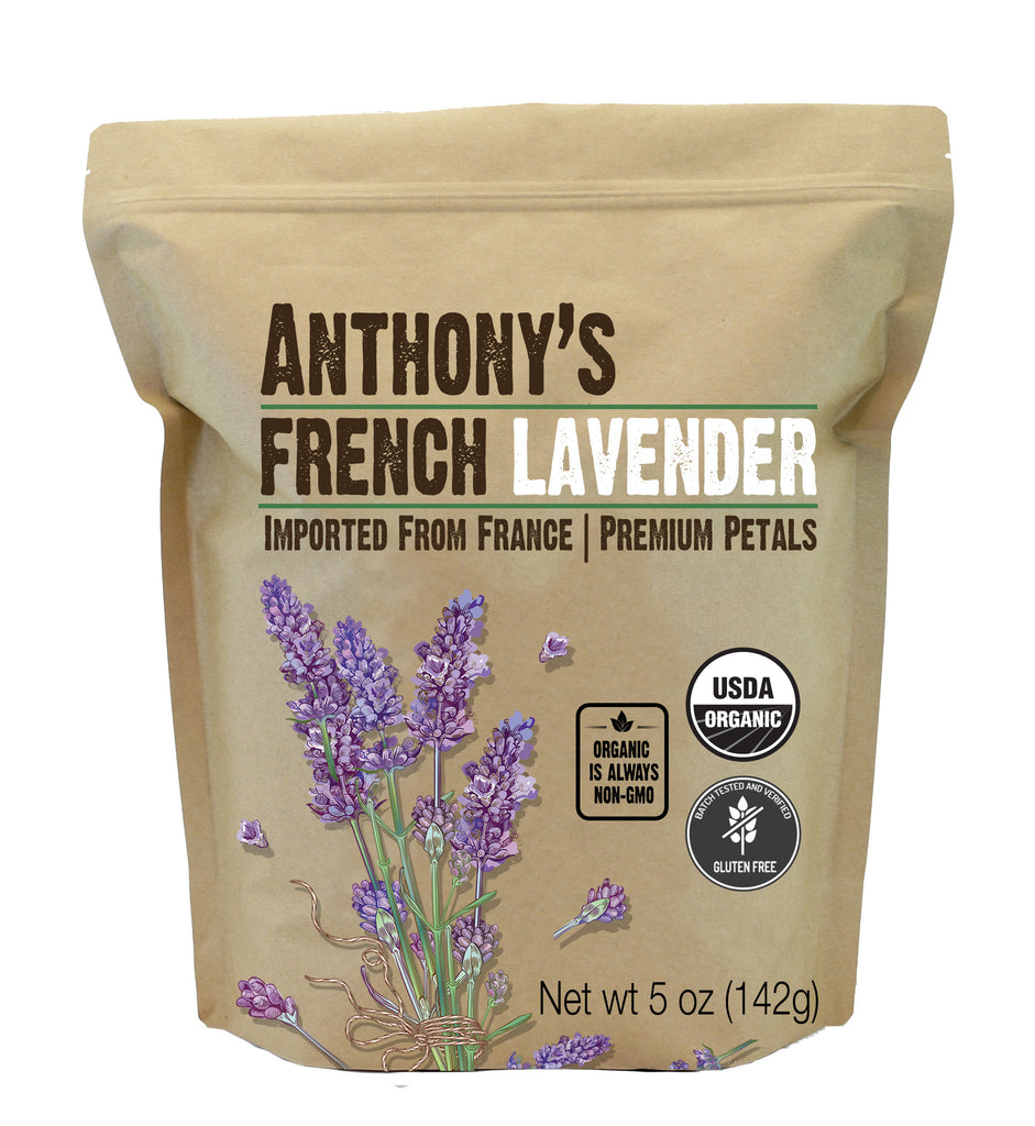 French Lavender Petals: USDA Organic & Batch Tested Gluten Free