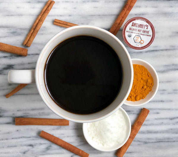 Organic MCT Coffee Pods: Spiced Keto Blend Infused with Organic MCT, Turmeric & Cinnamon