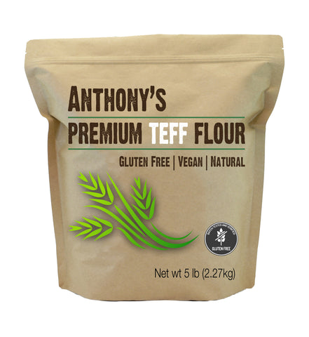Brown Organic Teff Flour: Batch Tested and Verified Gluten-Free