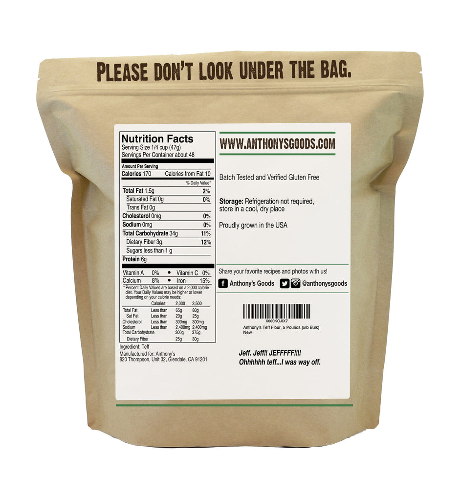 ... Brown Teff Flour: Batch Tested and Verified Gluten-Free ...