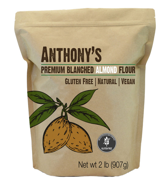 Image of a small brown package from Anthony's Goods containing Blanched Almond Flour