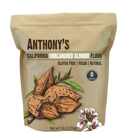 Natural Unblanched Almond Meal/Flour: Batch Tested & Verified Gluten-Free