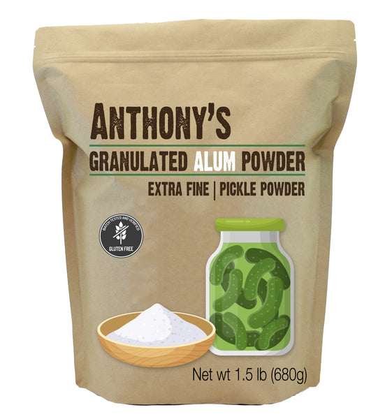 Alum Powder: Granulated, Pickle Powder, Batch Tested Gluten Free