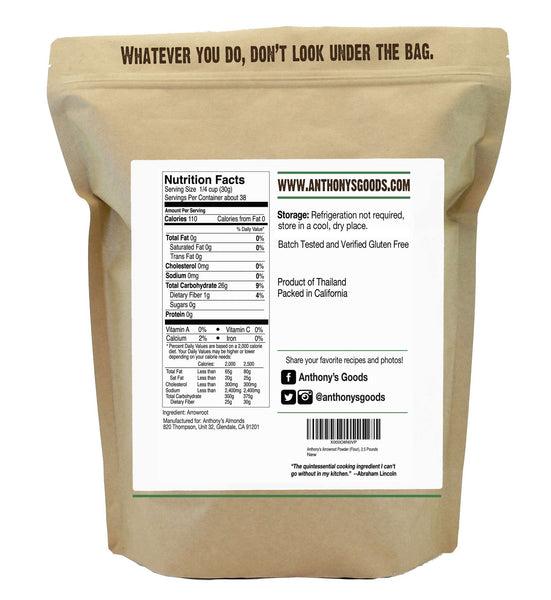 Arrowroot Powder: Certified Gluten-Free
