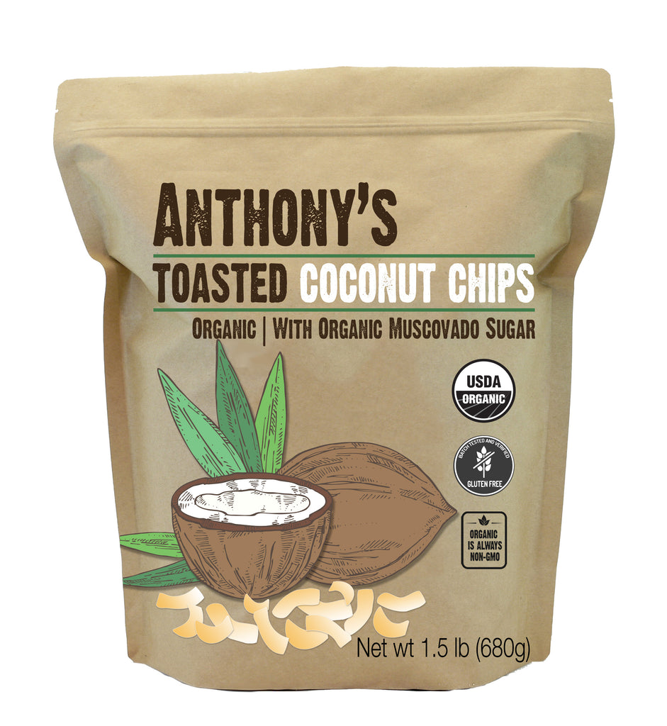 Organic Toasted Coconut Chips: Gluten Free, With Organic Muscovado Sugar & Salt