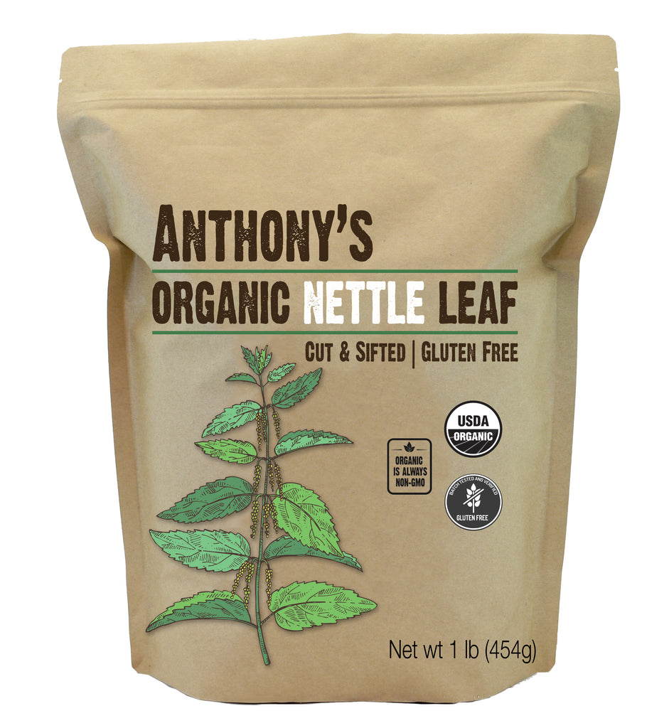 Nettle Leaf: USDA Organic, Cut & Sifted, Batch Tested Gluten Free