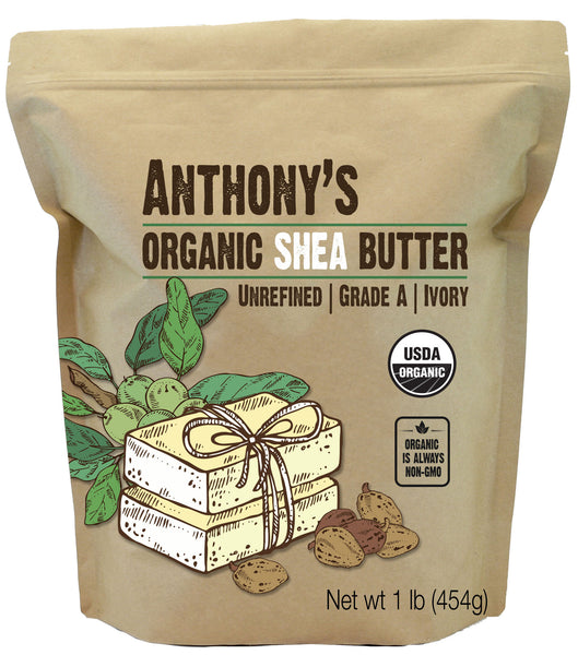Unrefined Shea Butter: USDA Organic, Grade A, Ivory, Raw