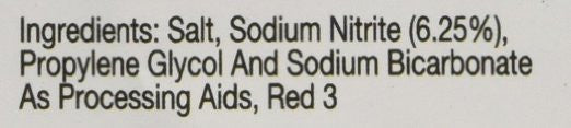 This is an image of the ingredient list for Anthony's Goods Premium Pink Curing Salt