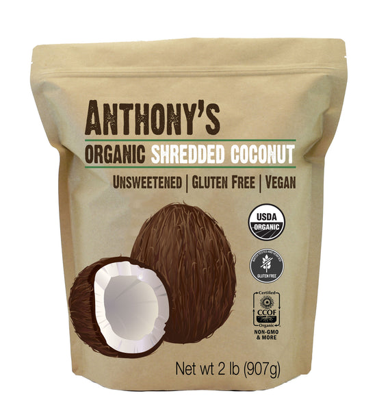 Organic Shredded Coconut (Unsweetened): Batch Tested & Verified Gluten-Free
