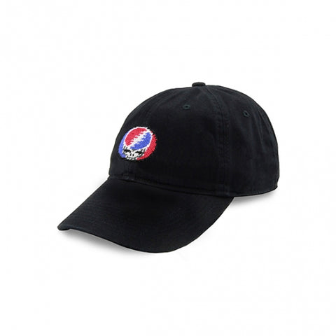 Steal Your Face Needlepoint Hat in Black by Smathers & Branson