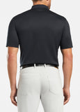 Solid Mercerized Polo in Black by Peter Millar