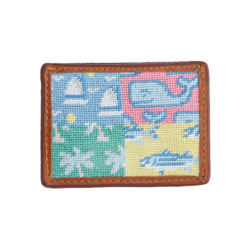 Patchwork Needlepoint Card Wallet by Vineyard Vines x Smathers & Branson