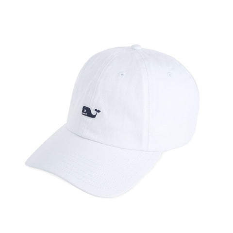 Whale Logo Baseball Hat in White by Vineyard Vines