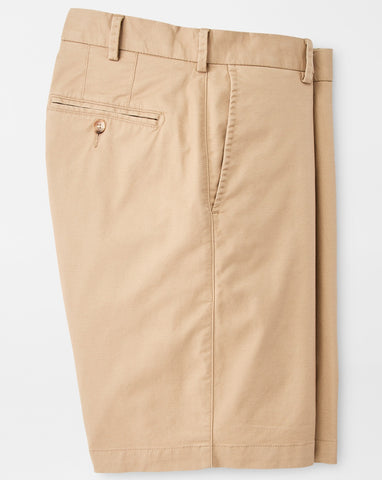 Soft Touch Twill Short in Khaki by Peter Millar