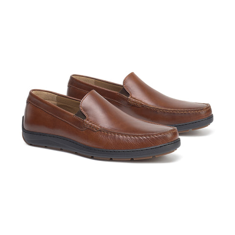 Sherwood Slip-On Loafer in Brandy American Steer by Trask