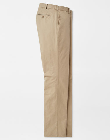 Soft Touch Twill Trouser in Khaki by Peter Millar