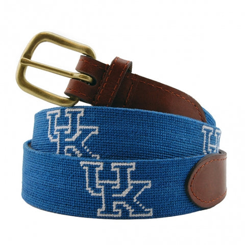 University of Kentucky Needlepoint Belt on Blue by Smathers & Branson