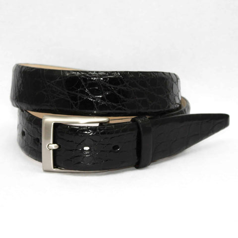 Glazed South American Caiman Belt in 3 Colors by Torino Leather Co.