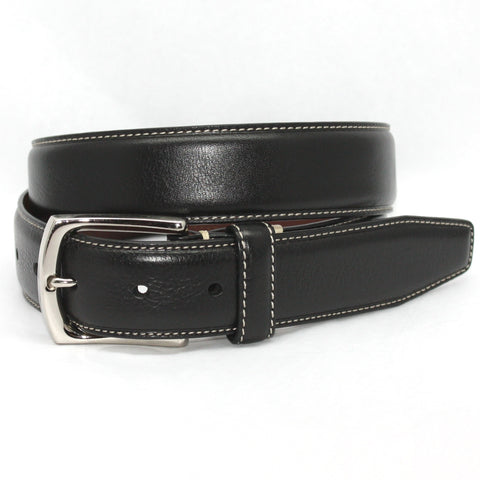 Burnished Tumbled Leater Belt in 3 Colors by Torino Leather Co.