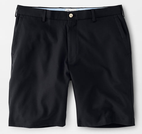 Salem High Drape Performance Short in Black by Peter Millar