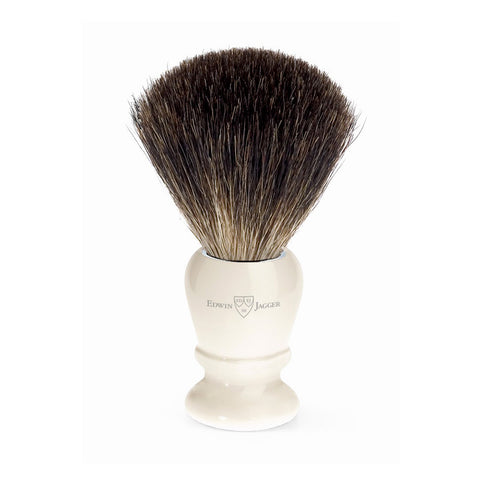 Pure Badger Shaving Brush in Imitation Ivory by Edwin Jagger