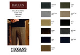 Super 120's Gabardine Dress Pant in 10 colors by Ballin