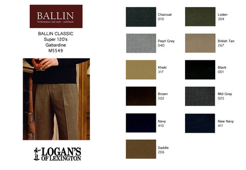 7e9105bf Super 120's Gabardine Dress Pant in 10 colors by Ballin
