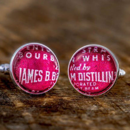 Beam Pink Foil Cufflinks by The Best of Kentucky