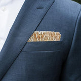 Bevy Feather Pocket Square by Brackish