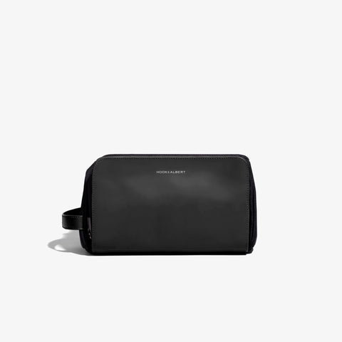 Leather Travel Dopp Kit in Black by Hook & Albert