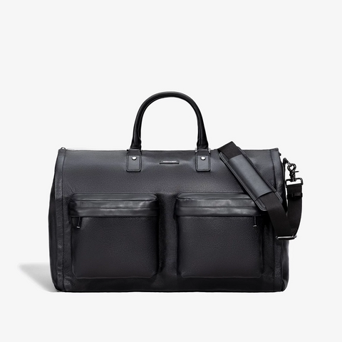 Men's Leather Garment Weekender Bag in Black by Hook & Albert
