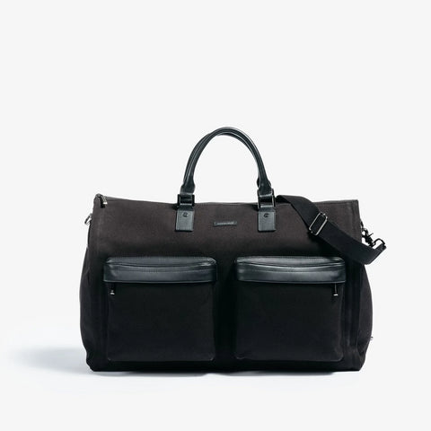 Men's Twill Garment Weekender Bag in Black by Hook & Albert