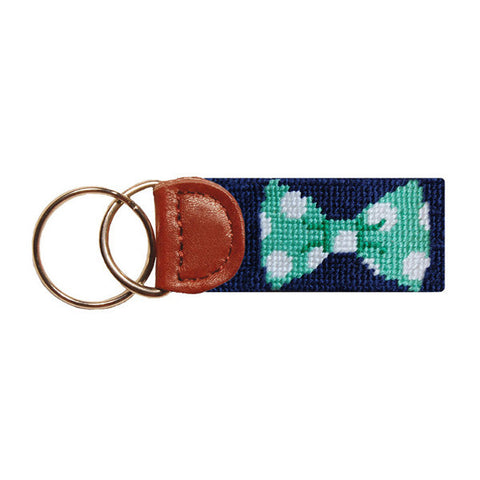 Bow Tie Needlepoint Key Fob by Smathers & Branson