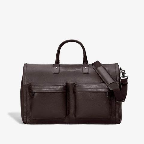 Men's Leather Garment Weekender Bag in Brown by Hook & Albert