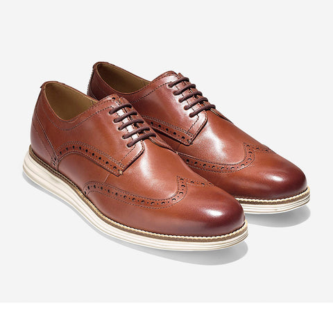 Original Grand Wingtip Oxford in Woodbury-Ivory by Cole Haan