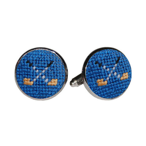 Golf Clubs Needlepoint Cufflinks by Smathers & Branson