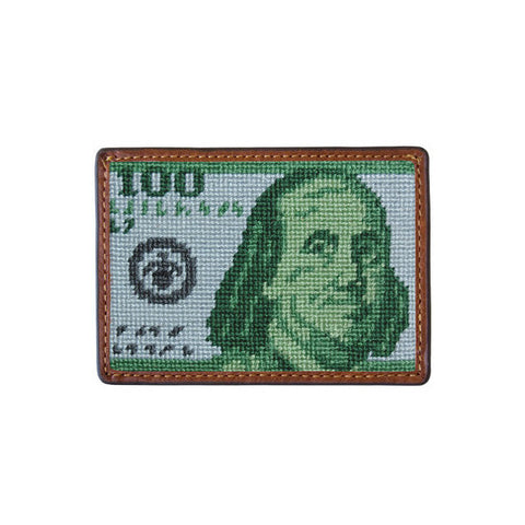 Benjamin Needlepoint Card Wallet by Smathers & Branson