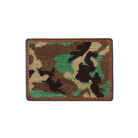 Camo Needlepoint Card Wallet by Smathers & Branson
