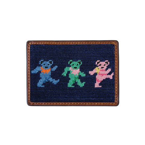 Dancing Bears Needlepoint Card Wallet by Smathers & Branson
