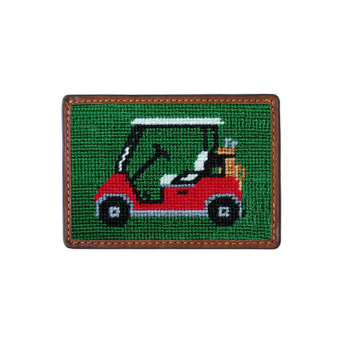 Golf Cart Needlepoint Card Wallet by Smathers & Branson