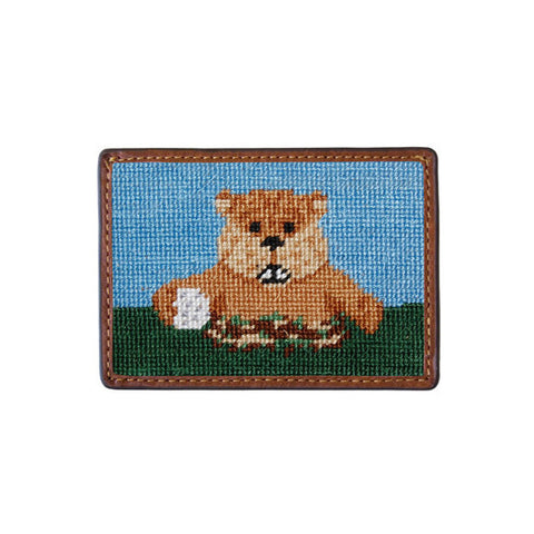 Caddyshack Gopher Needlepoint Card Wallet by Smathers & Branson