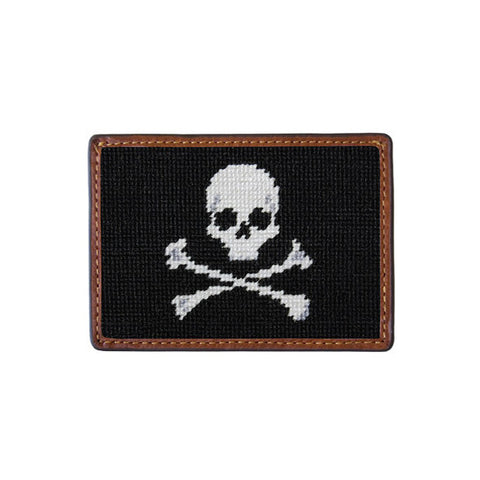Jolly Roger Needlepoint Card Wallet by Smathers & Branson