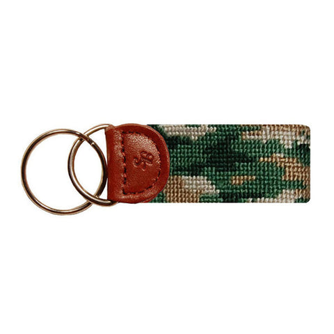 Camo Needlepoint Key Fob by Smathers & Branson