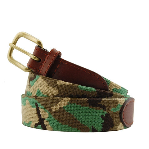 Camo Needlepoint Belt by Smathers & Branson