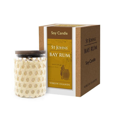 Bay Rum Soy Candle by St. John's Fragrances