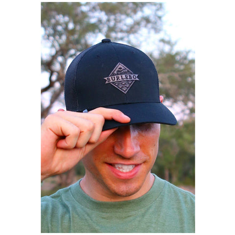 Signature Logo Cap in Black by Burlebo