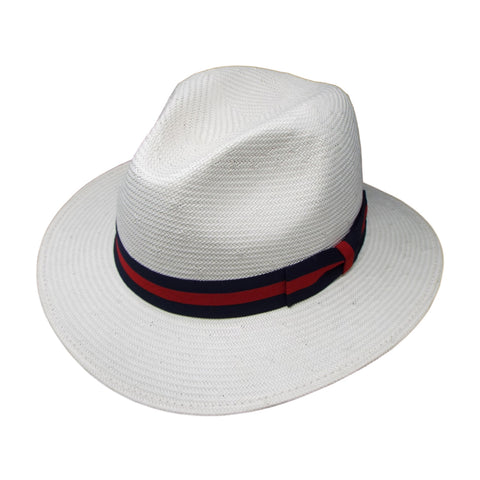 Chris Robinson Shantung Hat in White by One Fresh Hat