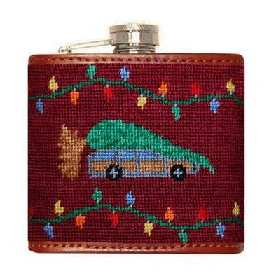 Christmas Vacation Needlepoint Flask by Smathers & Branson