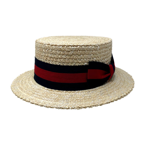 Classic Boater Straw Hat in Natural by One Fresh Hat