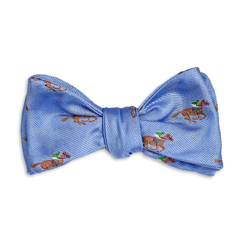 Cocky Jockey Bow Tie in Blue by High Cotton